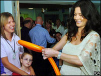 Catherine Zeta Jones opened the hospital's first phase