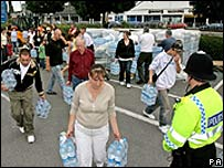People collecting water in Gloucester