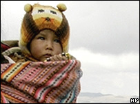 File photo of a young child in the Andes