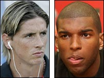 Fernando Torres and Ryan Babel