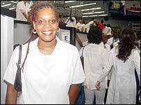 Melissa Barber, estadounidense graduada de médico en Cuba (Foto: Samuel Hernández)