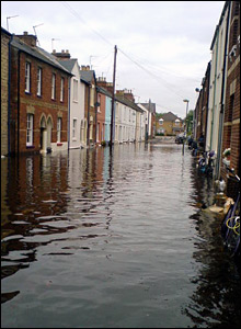 Duke Street flooding, Oxford. Photo: Rhona Marsden