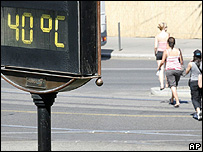 Thermometer in Budapest, Hungary