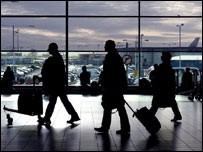 Photo of passengers in an airport