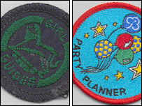 Guide badges from 1957 and today (Pic: Girlguiding UK)