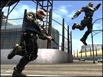 Screenshot from Crackdown