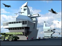 Computer-generated image of one of the carriers (Crown Copyright/MOD 2007)
