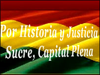 Detalle de la página del gobierno de Sucre.