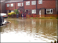 Sarah Blow took this photo of a flooded road in Whitley Wood, Reading