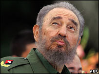 File photo from 26 2006 of Cuban President Fidel Castro in Bayamo