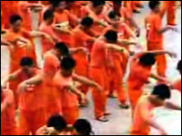Video grab of Philippine prisoners dancing to Michael Jackson's Thriller