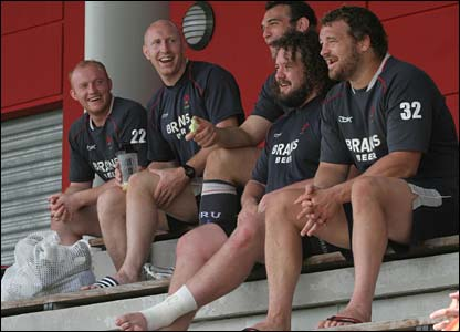 Martyn Williams, Tom Shanklin, Robert Sidoli, Adam Jones and Chris Horsman