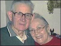 Heart attack victim Norman Bell and his wife Irene