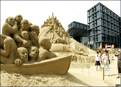Sand sculptures in Berlin.