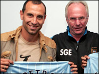 Martin Petrov and Sven-Goran Eriksson