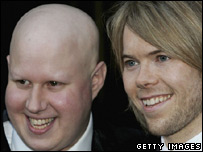 Matt Lucas and his partner Kevin McGee