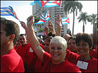 Crowds at the Camaguey celebrations