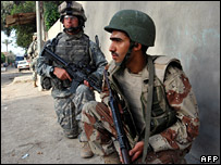 US and Iraqi soldiers in Baghdad in May (Photo: US ARMY/SGT MIKE PRYOR)