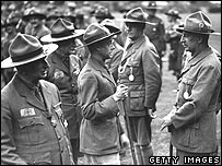 Edward VIII at a scouting event