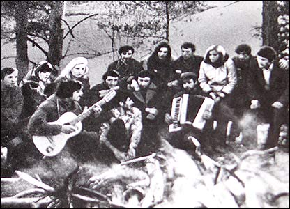 Communist songs around the campfire