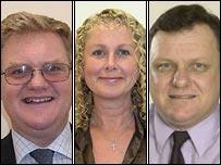 (l-r) Simon Inch, Caroline Church and Tony Inch, Pic Torridge District Council