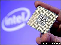 Intel micro processing chip