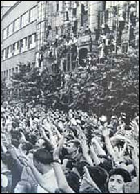На улицах Москвы в дни фестиваля (фото с сайта www.festos.ru)