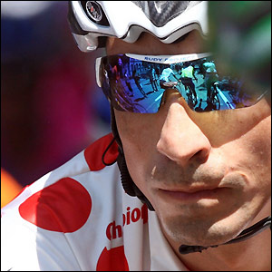 Barloworld's Mauricio Soler is the current wearer of the polka dot jersey