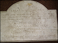 The World War I plaque (pic: Dorset For You)