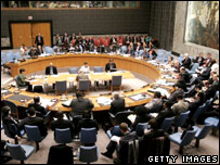 A meeting of the UN Security Council (file image)