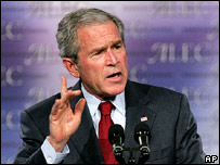 US President George W Bush (file image)