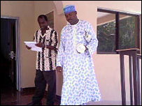Dr Sulieman Abdullahi and Fadinding Manneh