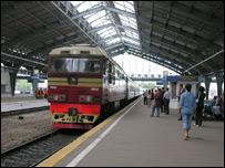 Прибытие поезда на калининградский вокзал