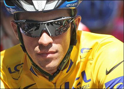 Tour de France leader Alberto Contador