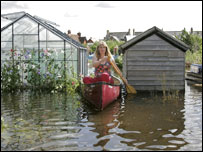 Flooded out allotments in Osney, Oxford