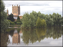 Tewkesbury Abbey - picture courtesy of Mary Nelson