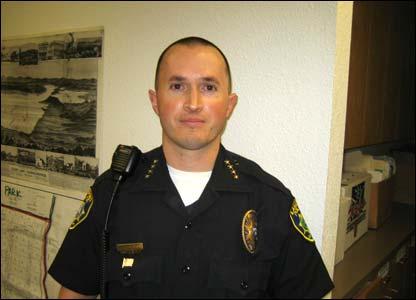 Jefe de la polic�a de Lakeport, Kevin Burke