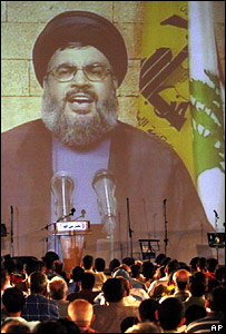 Hassan Nasrallah makes a televised address in Bint Jbeil