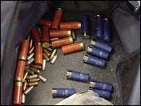 Bag of shotgun shells