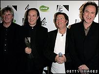 Mick Avory, Dave Davies, John Dalton and Ray Davies