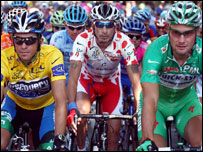 Contador, Soler and Boonen