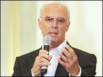 Former Germany World Cup winner Franz Beckenbauer
