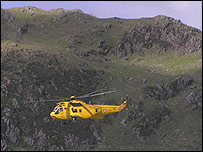 An RAF helicopter over Snowdon (picture: Nigel Duckworth)