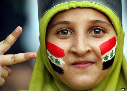 Iraq fan in Jakarta, Indonesia
