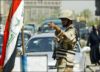 Iraqi soldier in Baghdad - 29/07/2007