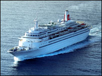 Black Watch at sea - picture courtesy of Fred Olsen Cruises