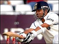 Sachin Tendulkar batting at Trent Bridge on Sunday