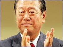 DPJ leader Ichiro Ozawa