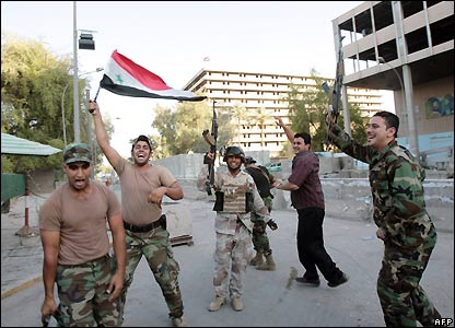 Iraqi soldiers in Baghdad