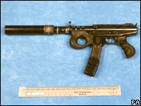 The silencer on a Croatian Agram gun